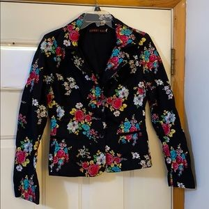 Johnny Was embroidered floral blazer M fits small